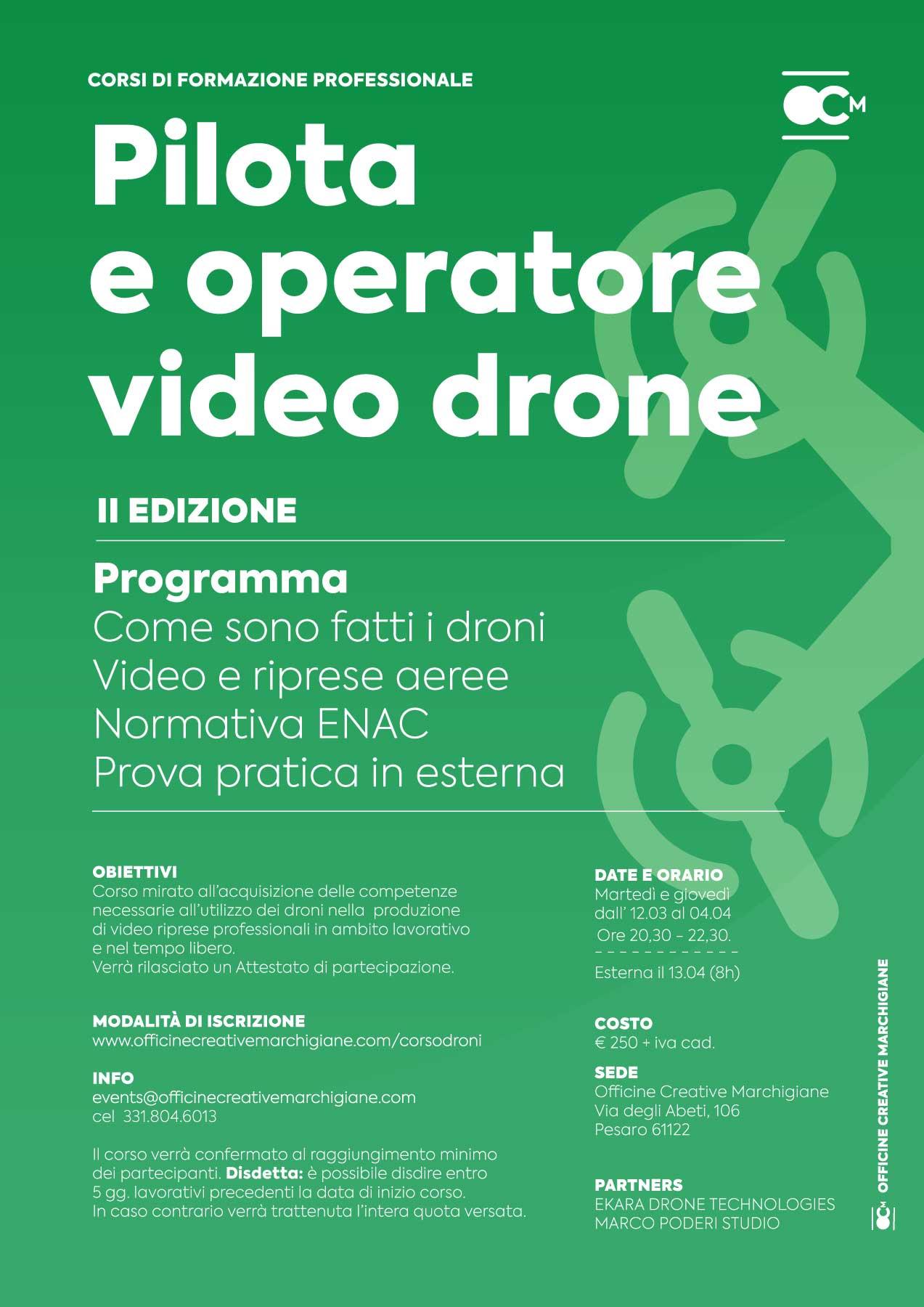 corso pilota operatore droni 2019